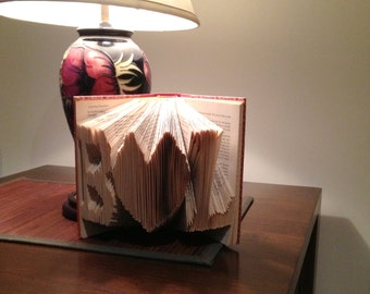 Folded Book Sculpture - Lovers