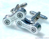 Cuff Links Mens Bicycle Chain Special Edition DURA ACE Bike Chain Upcycled - Cyclist Racer - Mountain Biker - Motorbike