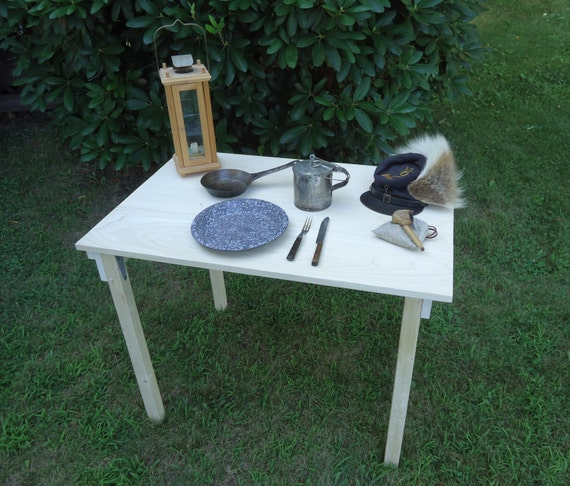 Civil War Folding Camp Table By Pawoods On Etsy