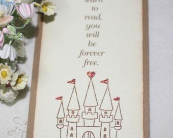 Princess Castle Bookmark - Set of 10 - Baby Shower Favor - Birthday Favor - Girl - You Choose Ribbon