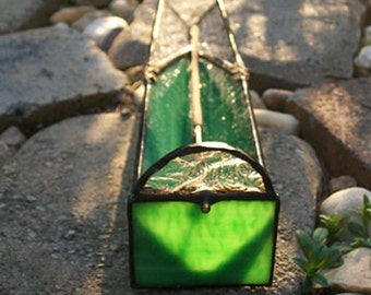 Stained Glass Incense Burner - Green