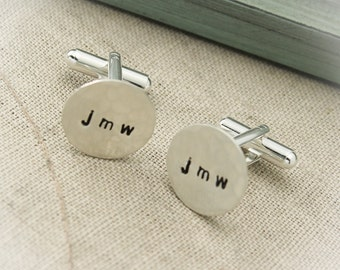 Personalized Men's Cuff Links, Customized Cuff Links, Hand Stamped Personalized Cuff Links, Groom Gift, Wedding Day Gift, Gifts for Him