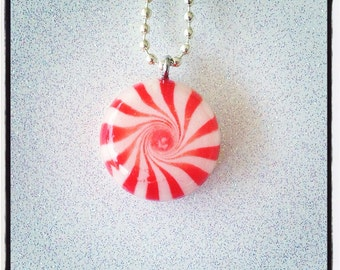 Peppermint Swirl Necklace