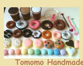 ETSY  Pretend play food - Felt food - Play food  Tomomo  Kawaii Sweets set