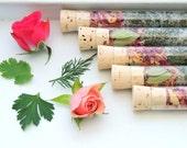 Organic & All Natural Spring Bath Salt Test Tubes. (Cherish Bath Affirmations) Mother's Day, Wedding, Hotel, Eco, Spa, Luxury gift set.