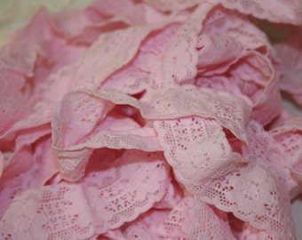 Pretty in Pink Elastic Lace