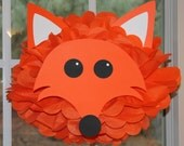 Fox tissue paper pompom kit