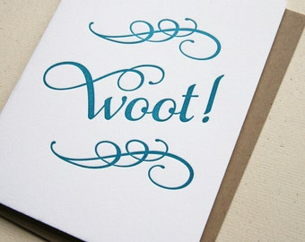 SALE - Letterpress Congratulations card - Woot