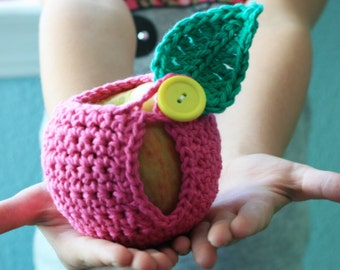 Large Crochet Apple Cozy