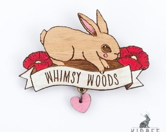 Whimsy Woods Souvenir Rabbit Brooch