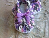 Baby Booties, Slippers.....in Gray, Pink, and  Lavender,