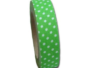 Candy Dot Fabric Tape Lime Green by Maya Road