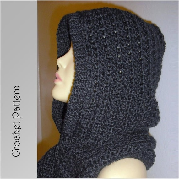 Gallery For > Crochet Hooded Scarf With Ears