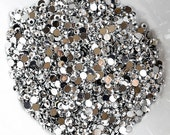 1000 Round Faceted Flat Back Rhinestone SS16 4mm Metallic Silver Iphone Case LR272