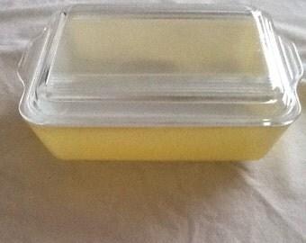 Vintage Pyrex Yellow Refrigerator Dish