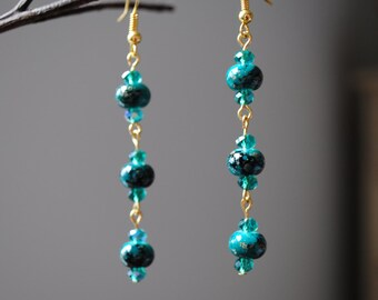 Royal green earrings