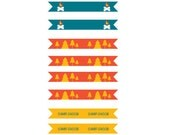 Straw/Food Pick Flags - Printable Camping Collection - 3 designs - 1 customized