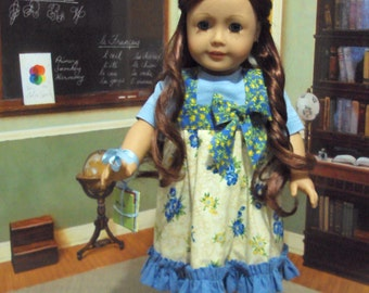 "School Days""prairie  dress for Kristin fits AG and other 18 inch dolls"