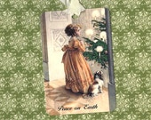 Tags, Victorian Christmas, Girl & Puppy Tags