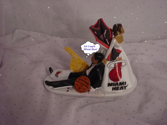 wedding cake toppers miami fl ethnic miami heat basketball american groom 26535