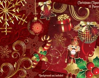 Christmas Clipart, Holiday Clipart, Christmas Card, Clipart