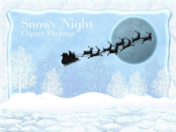 winter clipart clipart von winter wonderland weihnachten. Black Bedroom Furniture Sets. Home Design Ideas