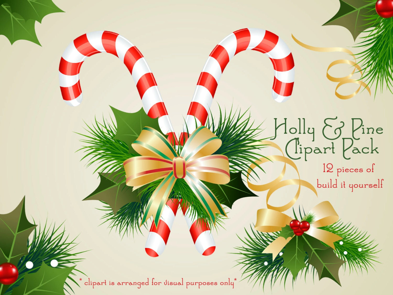 Christmas Holly Garland Clip Art