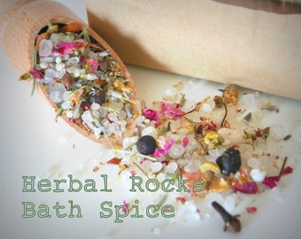Herbal Rocks Bath spice soak salt natural with Dead Sea salt