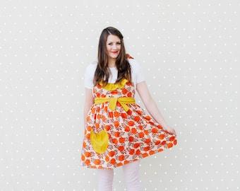 RUFFLED women's apron pattern - one size
