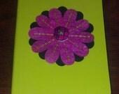mini neon green notebook