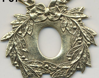 Vintage Findings Stampings, Wreath, Bar, Frame, Shield, 4 Styles, American Made F37.F803.F845