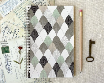 SALE 25% Off - Spiral Notebook, Journal - Plucked