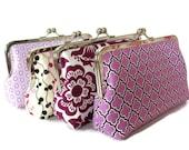 Purple Bridesmaid Clutch, Wedding Party Purses, Custom Personalized Bridesmaid Gift Purses Bags
