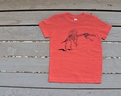 Dinosaur Spinosaurus T-Shirt  Bright Red American Apparel Hipster Tee for kids