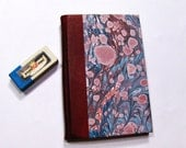Marbled paper & Leather  notebook .Taccuino  Hand crafted Florentine style -  SIZE: 4.29