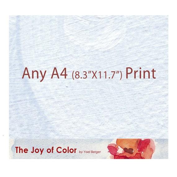 "Any A4  8.3""X11.7"" art Print"