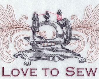 LOVE TO SEW - Machine Embroidered Quilt Blocks(AzEB)