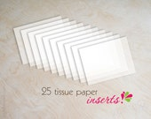 "Tissue paper inserts for wedding invitations, 4.5"" x 6"""