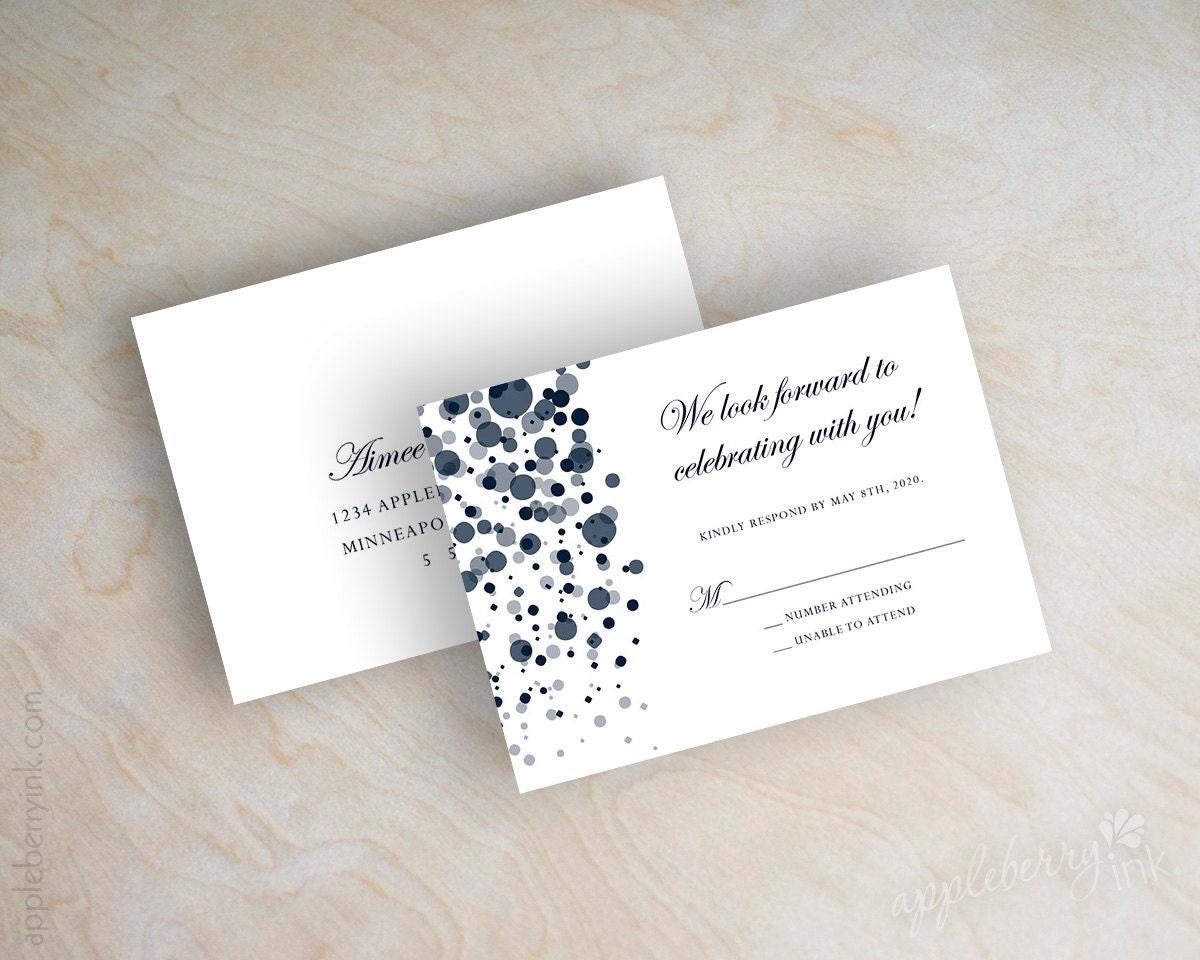 Navy Wedding Invitations: Wedding Invitations Navy Wedding Invitation By Appleberryink