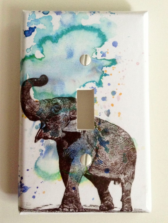 elephant decorative light switch cover plate great elephant baby nursery decor kids room decor art and - Decorative Light Switch Covers