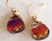 Caliente Petite Sparklers (handmade Swarovski crystal earrings)