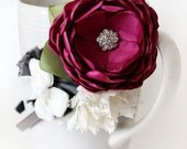 Magenta flower headband
