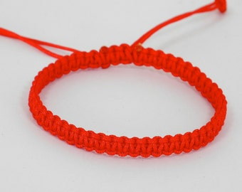 Traditional Womens Red String Bracelet