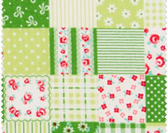 Romantic Memories  Cotton Fabric Cosmo Quilt Gate AP8787-14C Green Patchwork