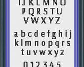 Cross Stitch Alphabet Pattern Gunner font