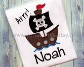 Personalized Pirate Shirt