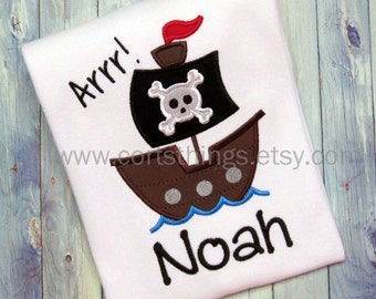 Personalized Pirate Shirt
