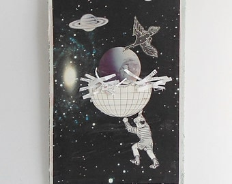 The Earth in it's Nest - Original Collage - Book Cover Collage