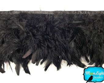 Chandelle Trim, 1 Yard - BLACK Chandelle Feather Trim : 3233