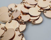 15 Jewelry Grade Blanks - Stamping Discs and Jump Rings - 17.5mm Easy to Stamp - You Pick: Copper, Brass, or Bronze - 100% Guarantee